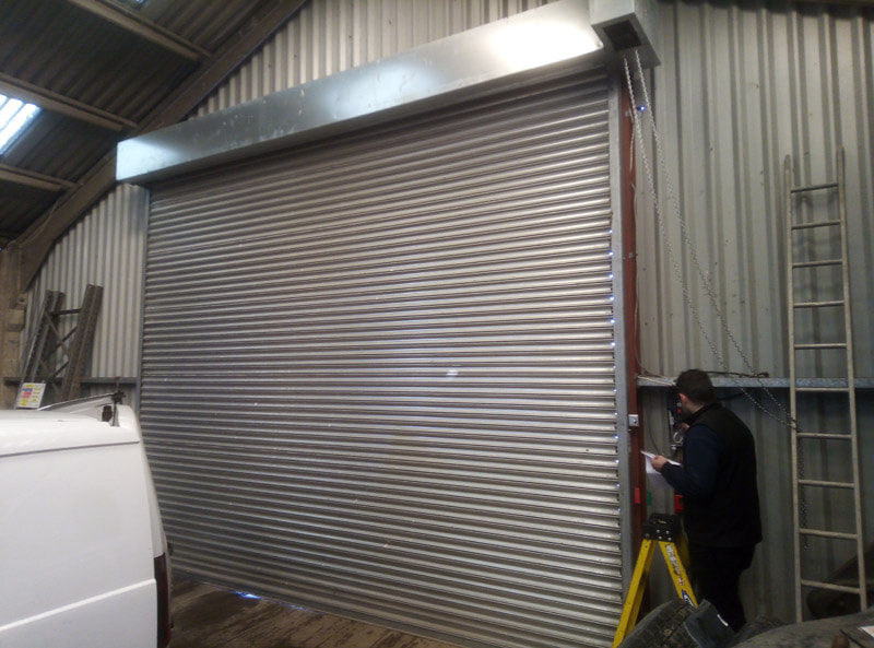 repaired industrial shutter to warehouse in Doncaster