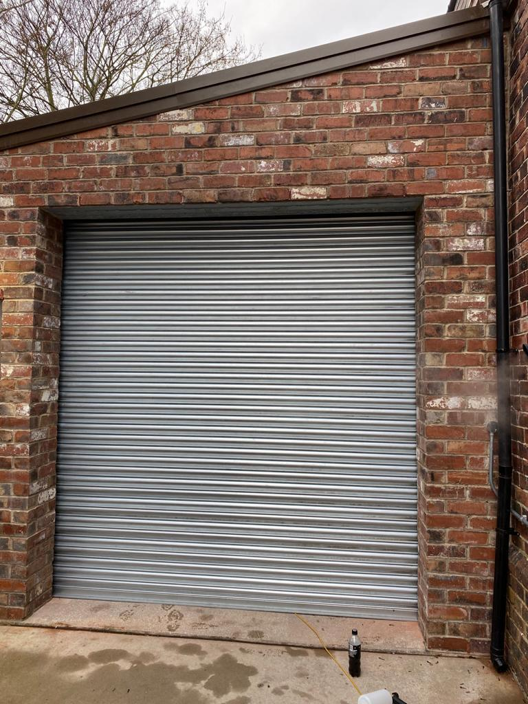 Completed roller shutter Rotherham